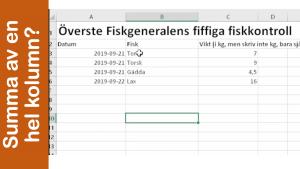 Summera en hel kolumn i Excel på ett litet kick så här!
