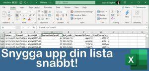 Snygga till din Excel-lista!