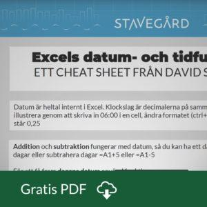 Cheat sheet om datum i Excel