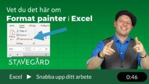 Format painter i Excel