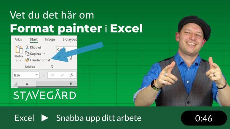 Format painter i Excel
