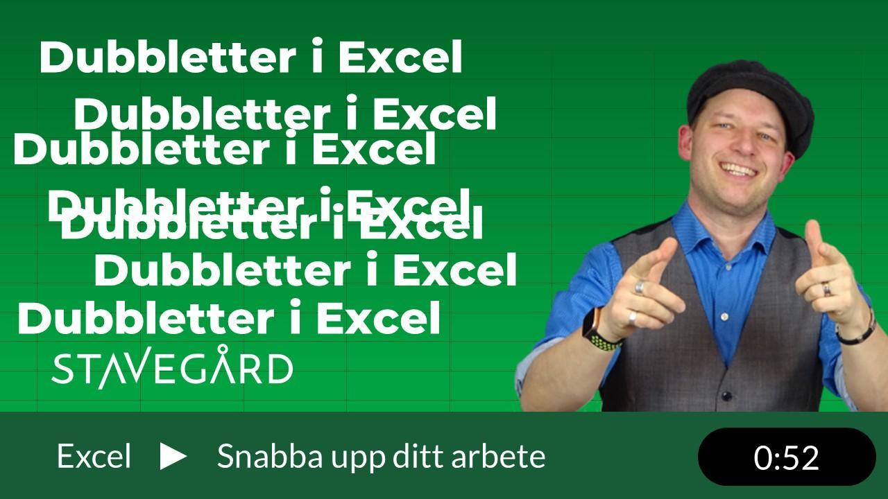Hur kan man ta bort dubbletter i Excel?