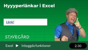 Hyperlänkar i Excel