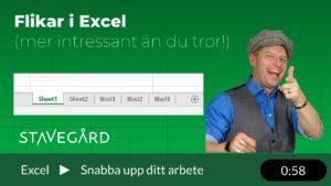 Flikar i Excel - mer intressant än vad du tror!