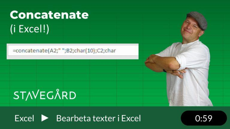Concatenate i Excel