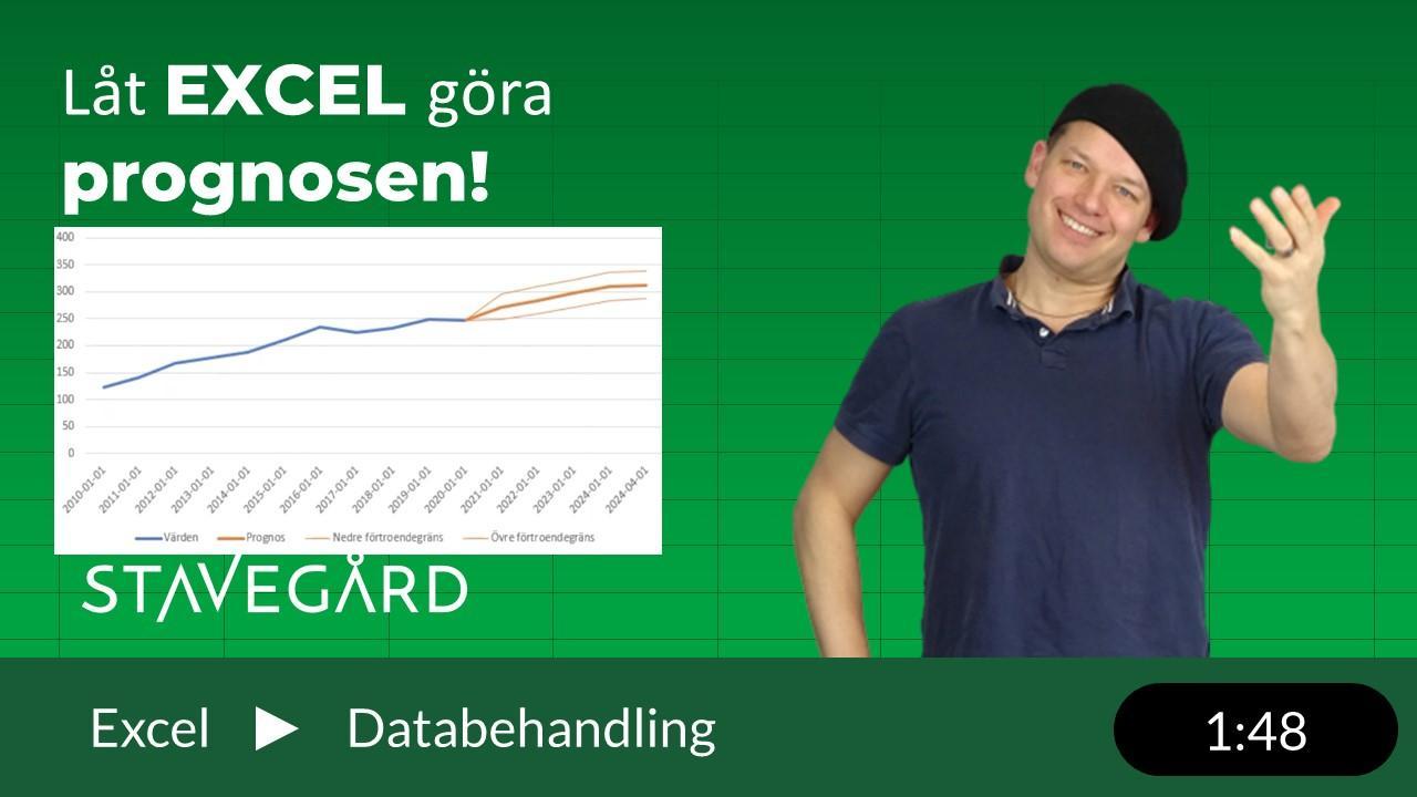 Prognos i Excel