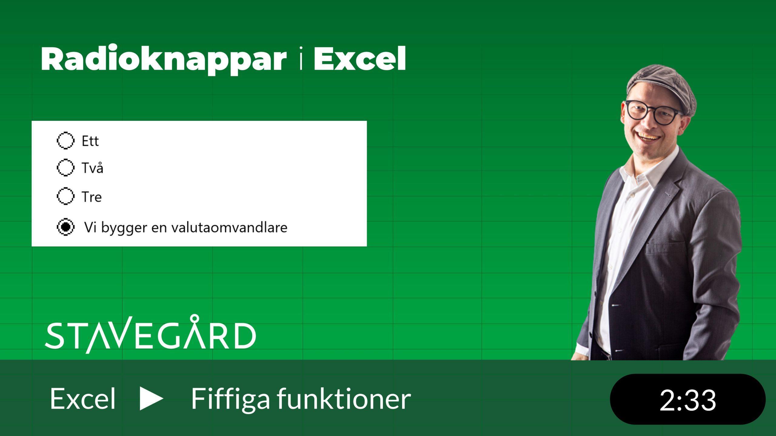 Valutaomräknare i Excel
