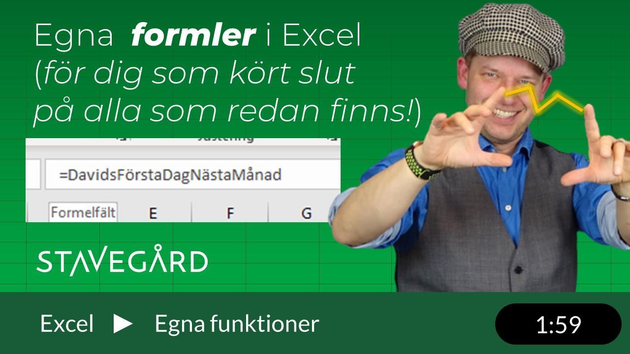 Egna fomler i Excel