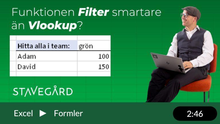 FIlter i Excel