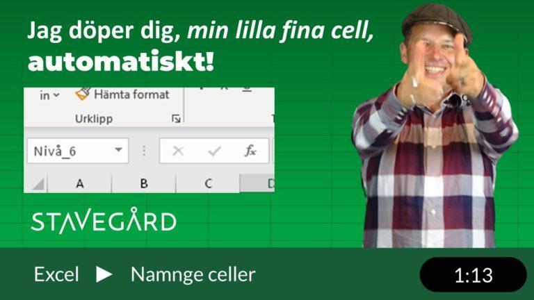 Namnge celler automatiskt i Excel!