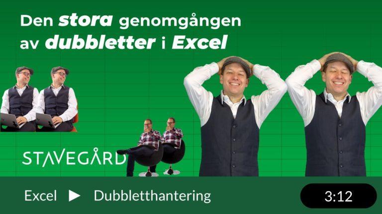 Dubbletter i Excel? Här har du olika sätt att hantera dem!