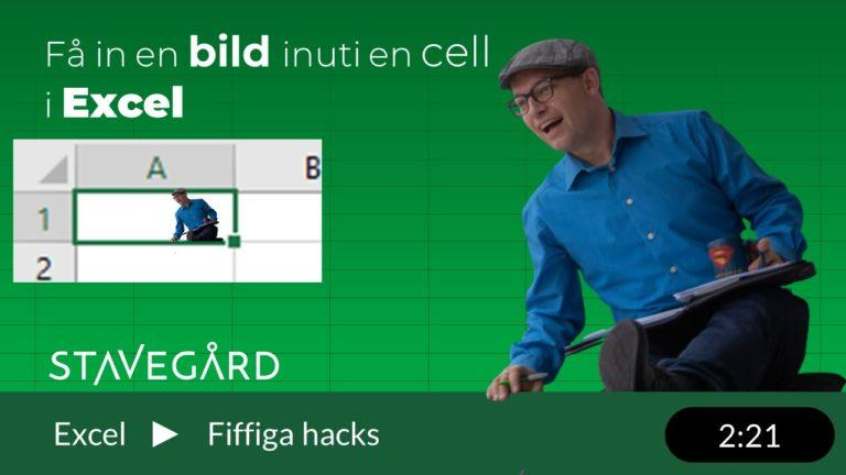 Bild inuti en cell i Excel!