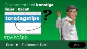 De obegripliga linjerna i Excel