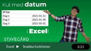 Kul med datum i Excel