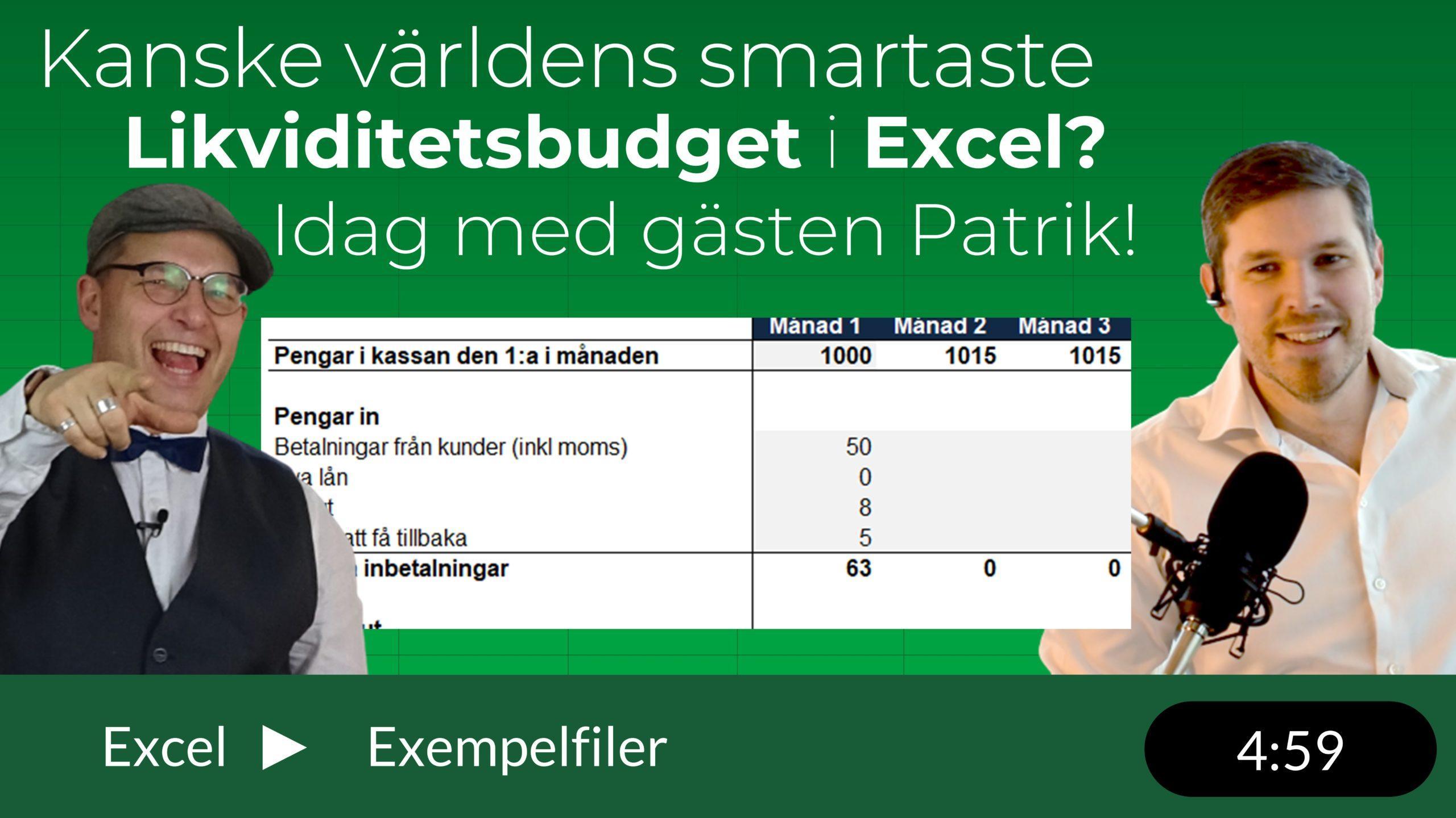 David och Patrik från Ludvig & Co pratar likviditetsbudget i Excel