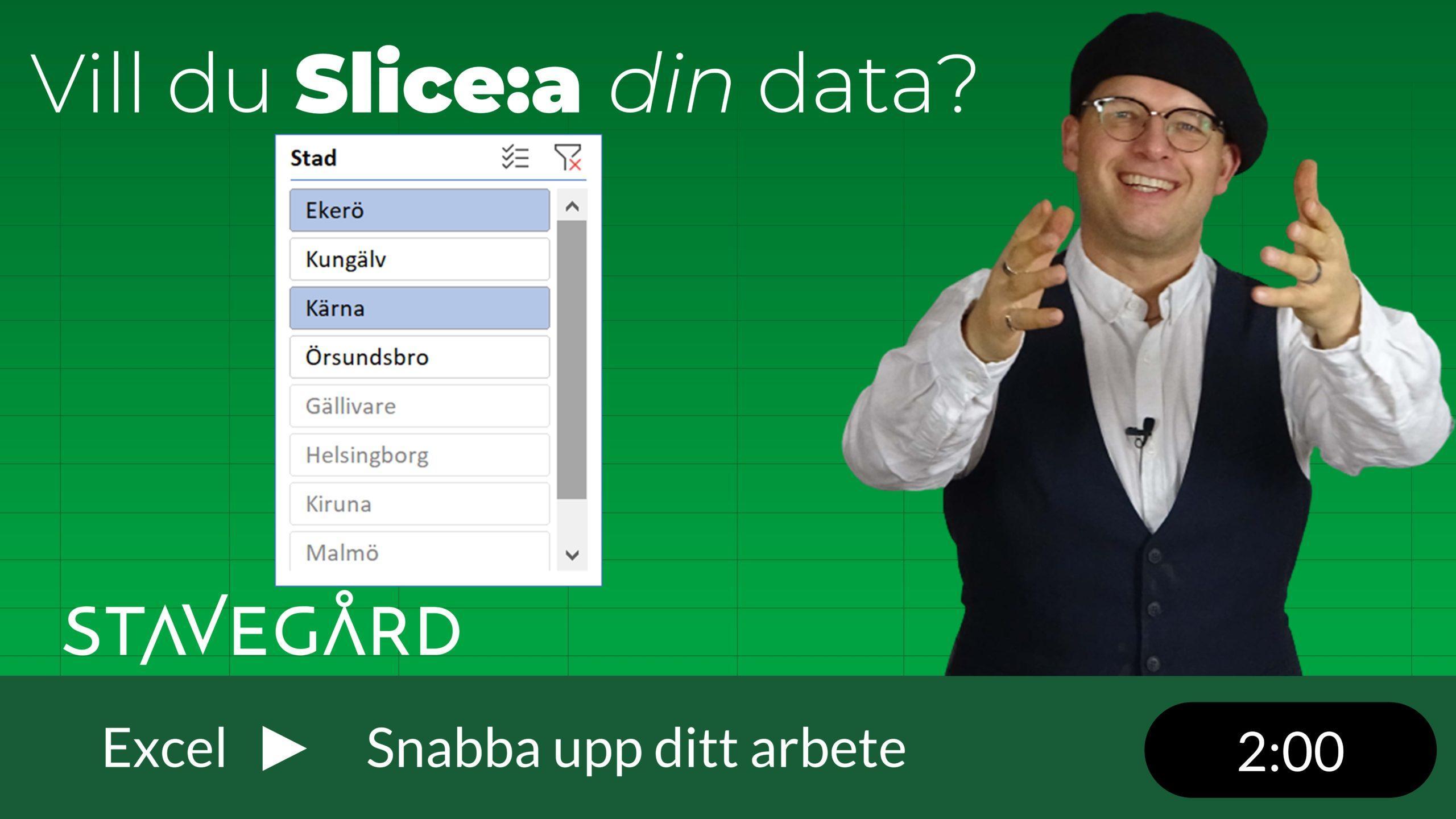 Slicers i Excel
