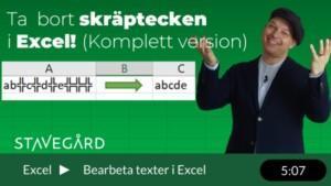 Ta bort skräptecken och osynliga tecken som stör i Excel