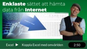 Hämta data från Internet till Excel