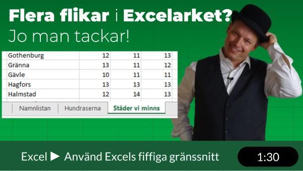 Se innehållet i flera flikar samtidigt i Excel!