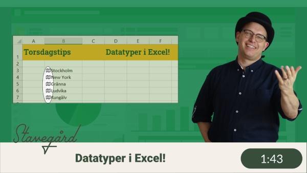 data types i Excel