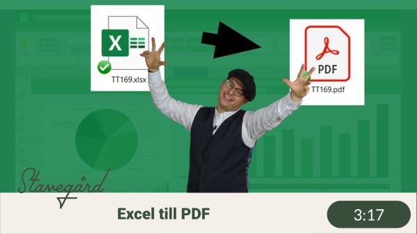 Gör Excelarket till PDF