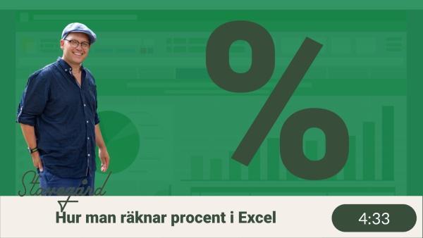 Räkna med procent i Excel