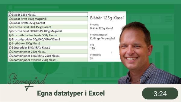 Egna datatyper i Excel (custom data types)
