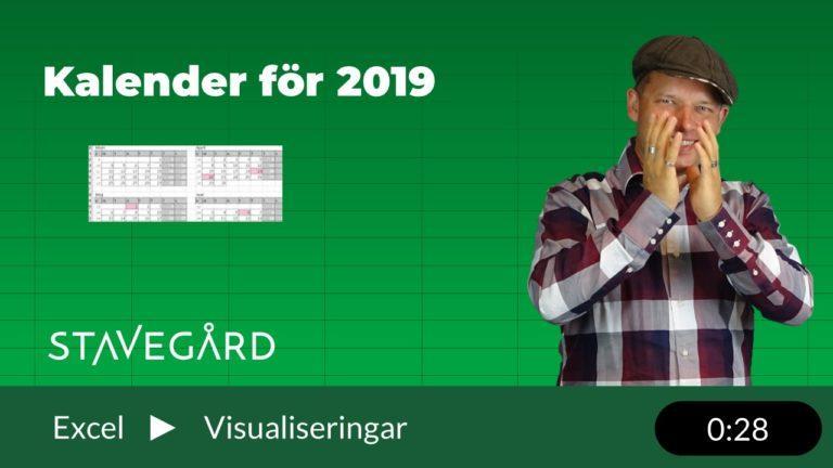 Kalender för 2019