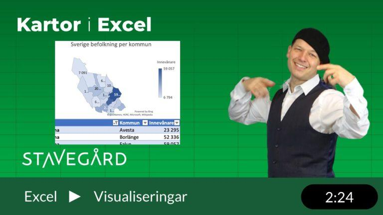 kartor i Excel