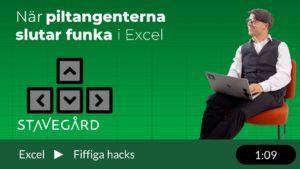 när piltangenterna slutar fungera i Excel