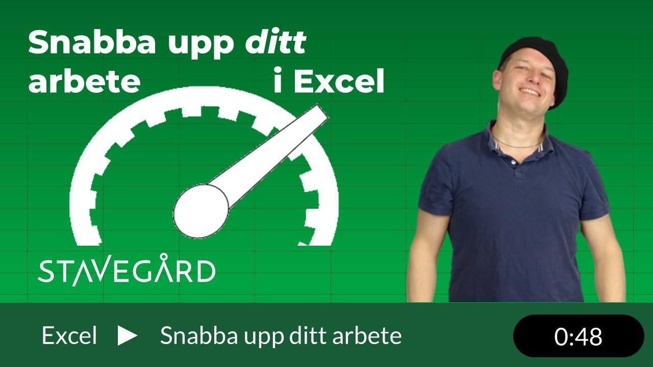 snabba upp ditt arbete i Excel