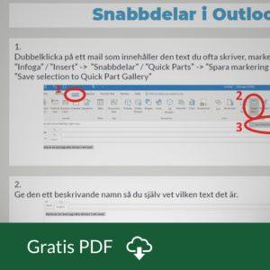 Quickparts i Outlook