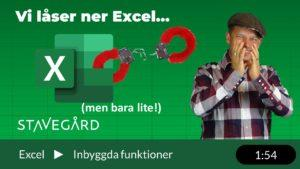 Hur låser man ner ett Excelark?
