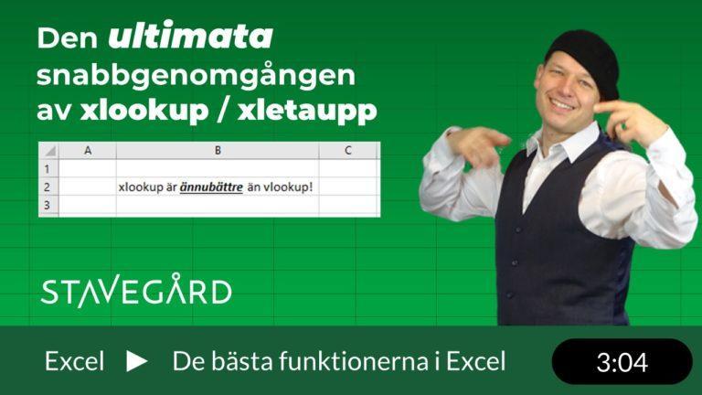 xletaupp (eller xlookup) inkl bonusklipp!