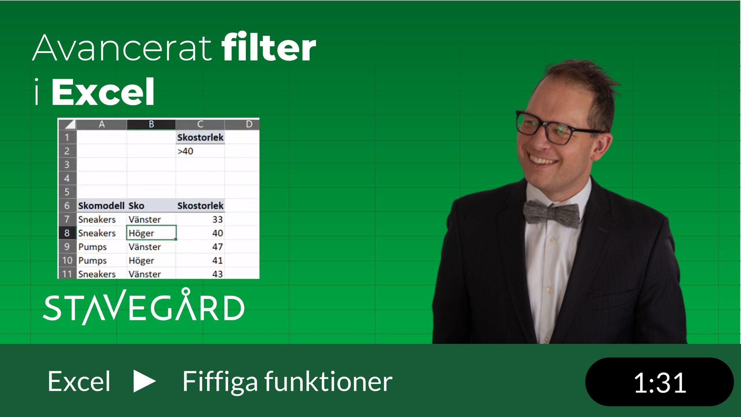 Avancerat filter