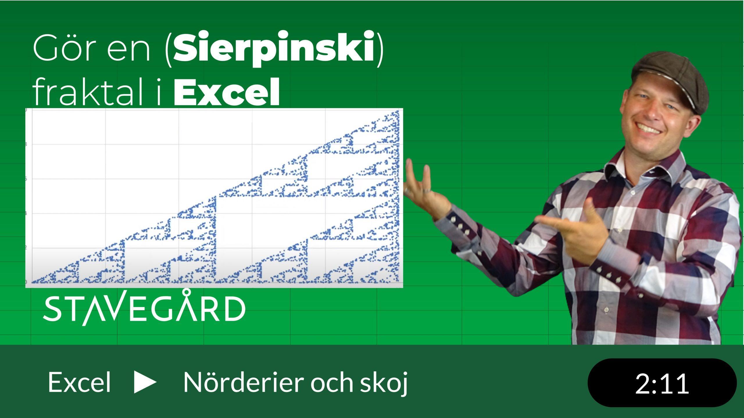 Sierpinski fraktal i Excel
