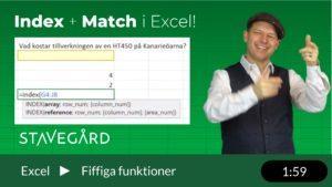Att använda Index och Match tillsammans i Excel
