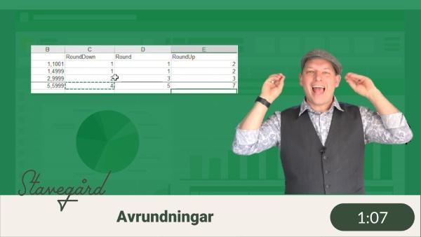 Avrunda tal i Excel?