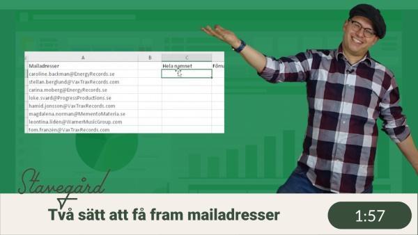 Få ut namn ur mailadresser – två sätt!